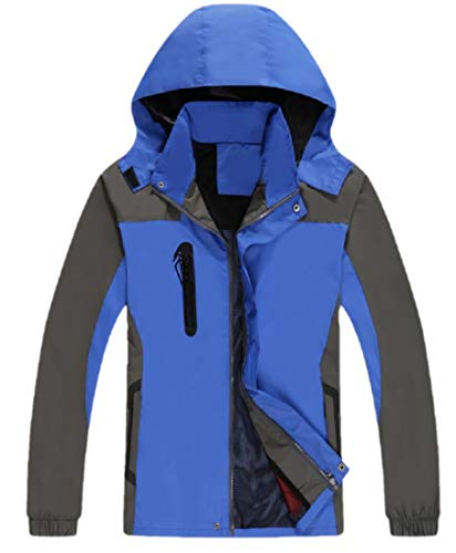 AngelSpace Men Light Weight Windbreaker Taped Seams Snowboard Jacket Dark...