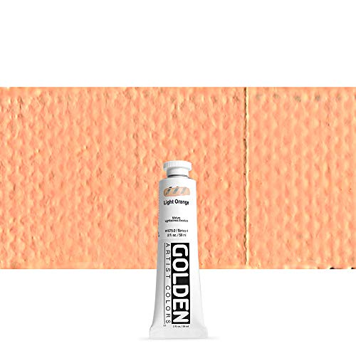 Golden Heavy Body Acrylic, 2 Ounce Tube, Light Orange -