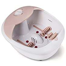 All in one foot spa bath massager w/ heat, HF vibration, infrared, O2 bubbles MS0810M