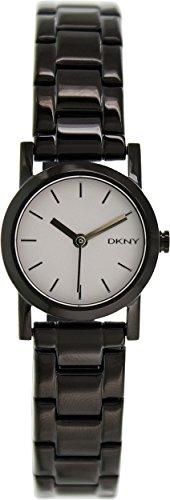 - DKNY White Dial Black PVD Ladies Watch NY2189