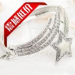 - S062 full diamond jewelry famous oil painting white five-pointed star female bracelet Bangle Bracelet