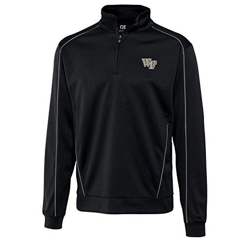 - Cutter & Buck NCAA Wake Forest Demon Deacons Men's Edge Half Zip Jacket, Black, Large