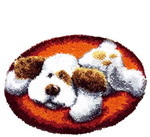 BYT Collections 15 Model Dog Latch Hook Kits Rug Dog023 20 by 20 Inch (1 pack)