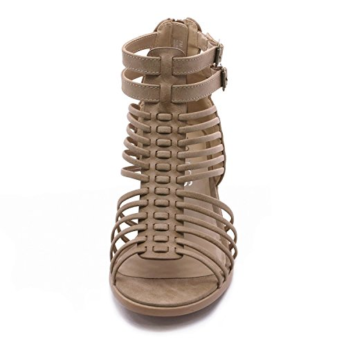TOETOS Women's Ivy_02 Nude Fashion Block Heeled Sandals Size 11 B(M) US by TOETOS (Image #3)