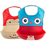 Waterproof Silicone Velcro Baby Bibs, Baby Feeding Easily...