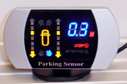 Black 8 sensors Parking Reversing sensor buzzer & LED: Amazon.co.uk: Electronics