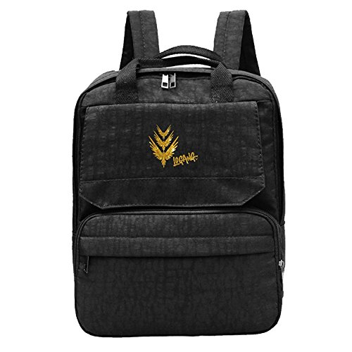 Women's Logo Backpack Black Golden Parrot Logang Bag Oxford Jack Paul Fashion Shoulder Sw1EtT7xq