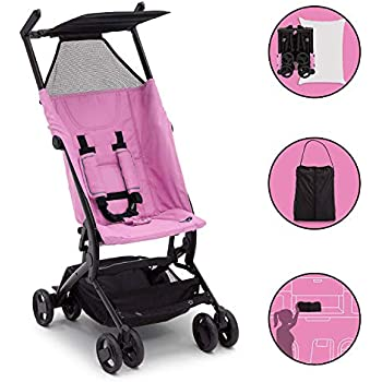 The Clutch Stroller by Delta Children | Great for On-The-Go Everyday Use | Pink