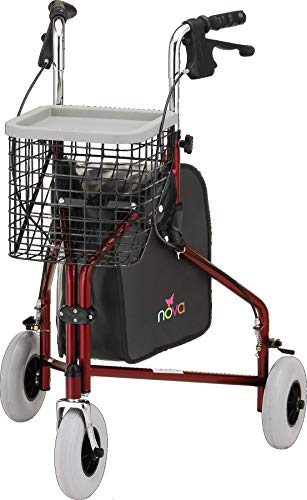 NOVA Traveler 3 Wheel Rollator Walker, All Terrain 8