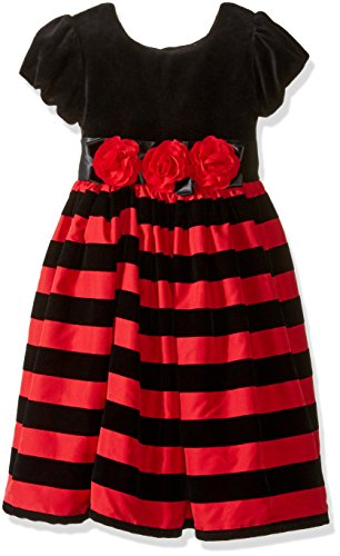 Little Me Baby Girls' Toddler Holiday Stripe Dress and Panty, Red/Multi, 4T by Little Me