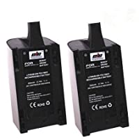 2Pcs 2500mAh 11.1V High Capacity Upgrade Rechargeable Battery Pack Replacement for Parrot Bebop Drone 3.0