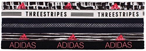 adidas Creator Plus Hairband (5 Pack), Black/White/Flash Red/Dapple/Visionary, One Size Adidas Red Wristband