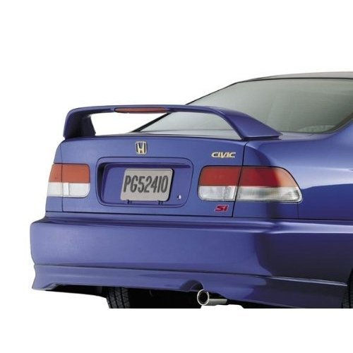 2dr Factory Style Spoiler - 96-00 Honda Civic 2dr SI Factory Style Spoiler - Painted or Primed : NH583M Vogue Silver Met