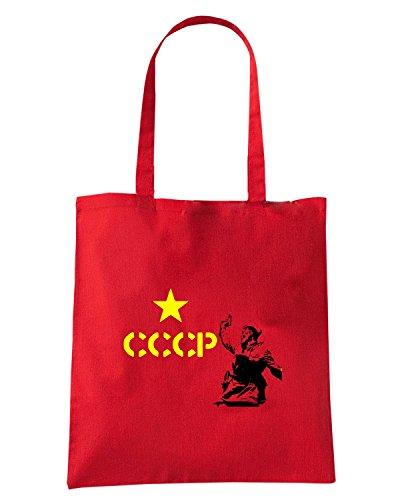 T-Shirtshock - Bolsa para la compra TCO0041 cccp falce e martello comunismo Rojo