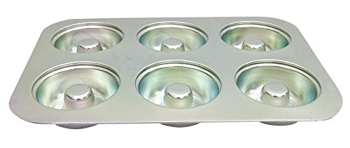 6 Cavaity Donut Aluminum Pan Cake Jelly Mold Bakeware Oven Muffin Tray Mould