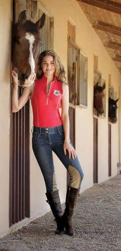 Goode Rider Jean Rider Breech K/P, Black Denim, 24R ()