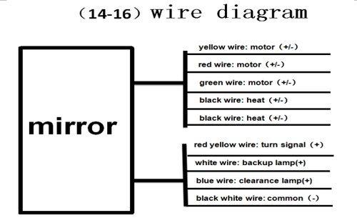 amazon com: fd 14-17 silverado sierra towing mirror power heated dynamic  turn signals backup lamp chrome: automotive