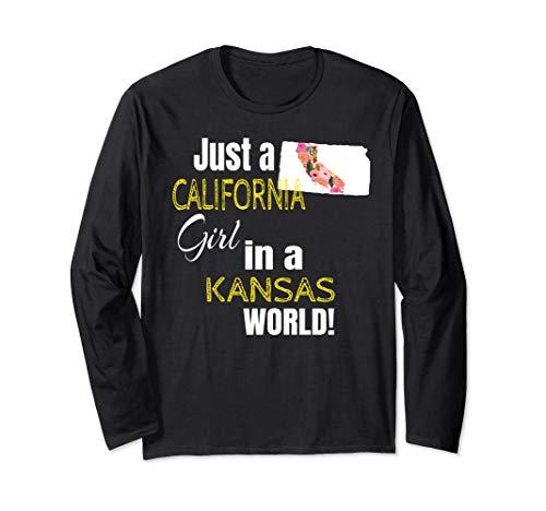 Just A California Girl In An Kansas World Cute Gift  Long Sleeve ()