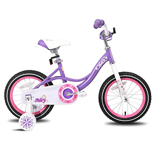 JOYSTAR 16 Inch Kids Bike with Training Wheels for 4 5 6 Years Old Girls, Toddler Cycle for Early Rider, Child Pedal Bike, Purple