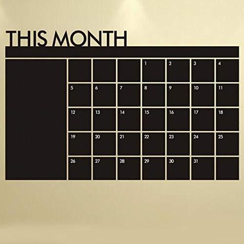 60x92 Month Plan Calendar Board Memo Blackboard Schedule Wall Sticker Living Room Decoration - Wall Stickers ()