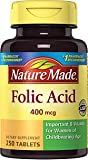 Nature Made Folic Acid 400 mcg Tablets, 250 Tablets