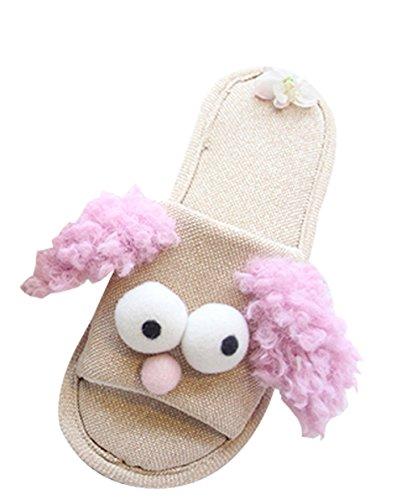 Cattior Mujeres Cute Funny Slippers Ladies Pantuflas Púrpura
