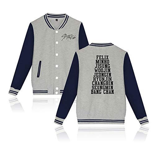 Kpop Stray Kids I Am WHO Baseball Uniform Jacket Unisex Hyun Jin Seungmin Changbin Jisung Hoodie Coat Sweater Sweatshirt