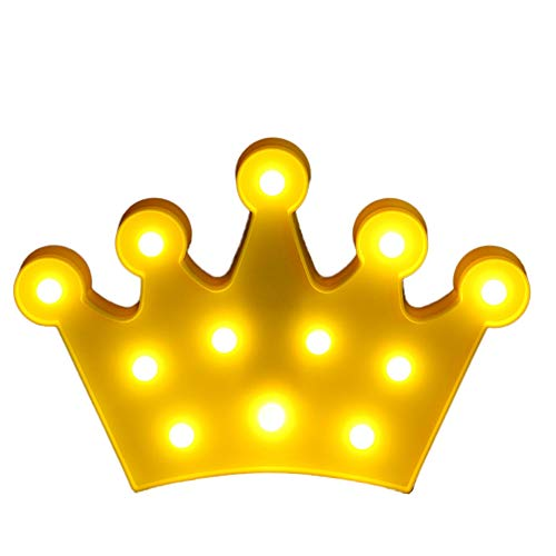 LED Crown Light, Cute Night Table Lamp Light for Kids'Room Bedroom Gift Party Home Decorations