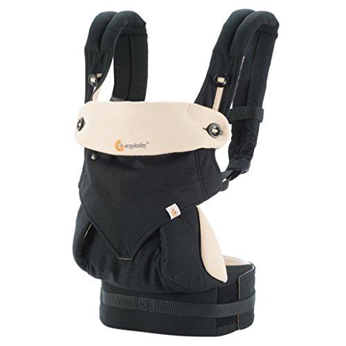 Ergobaby 360 All Carry Positions Award-Winning Ergonomic Baby Carrier, Black/Camel