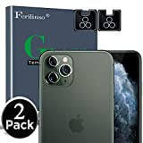 [2 Pack] Ferilinso Camera Protector for iPhone 11 Pro/iPhone 11 Pro Max Camera Protector, Bubble Free Tempered Glass Protection Film with Lifetime Replacement Warranty (Clear)