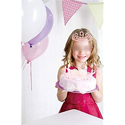 9th Birthday Gifts for Girl, 9th Birthday Tiara and Sash Pink, Happy 9th Birthday Party Supplies, 9 & Fabulous Glitter Satin Sash and Crystal Tiara Birthday Crown for 9th Birthday Party Supplies: Health & Personal Care