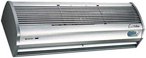 エアカーテンホワイト超薄型合金ケースコマーシャル/ホーム屋内2スピードプッシュボタンスイッチ付き、パワフル、静か、小型、軽量