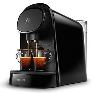 Philips L'OR Barista LM8012/60 – Cafetera compatible con cápsula individual/doble, 19 bares presión, depósito 1L, color negro 41HrU7YFjBL