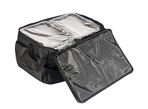 Insulated Food Delivery Bag - Commercial Quality Thermal Food Transport Bag - 22'' x 14'' x 11'' - Extra Strong Zipper With Thick Insulation Carrier - Large Black by DeliveryPizzaBags (Image #6)