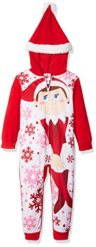 Price comparison product image Elf On The Shelf Big Girls' Hooded Blanket Sleeper, Hollyday Red, 6