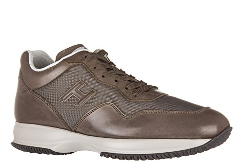 Hogan Chaussures Baskets Sneakers Homme en Cuir Interactive 3D Marron
