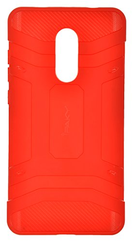 IPAKY RN4RKP Rugged Back Cover for Redmi Note 4  Red