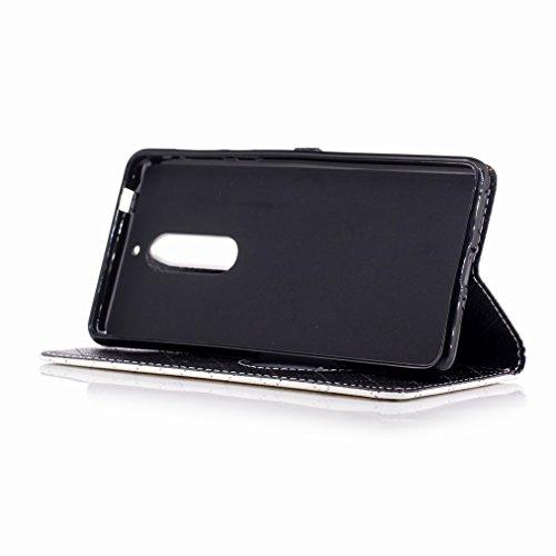 Yiizy Nokia 5 Custodia Cover, Amare Design Sottile Flip Portafoglio PU Pelle Cuoio Copertura Shell Case Slot Schede Cavalletto Stile Libro Bumper Protettivo Borsa (Bianco)