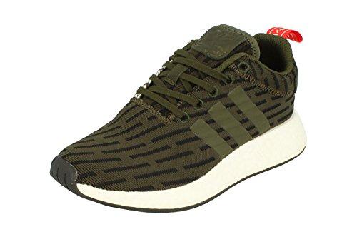Scarpe Da Ginnastica Da Running Adidas Originali Nmd_r2 Uomo (uk 6 Us 6.5 Eu 39 1/3, Verde Nero Bianco By2500)
