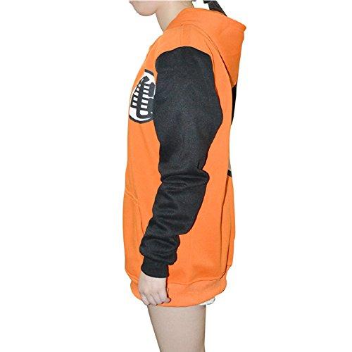 3289bbe6 PIZZ ANNU Dragon Ball Z Goku Kame Symbol Orange Long/Short Sleeves Hoodie  Adult Zip
