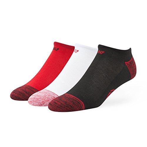 - '47 MLB Cincinnati Reds Men's Blade Motion No-Show Socks (3 Pack), Medium