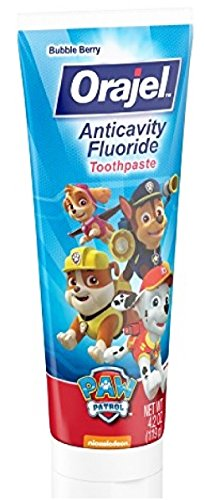 Paw Patrol Marshall Toothbrush & Toothpaste Bundle: 3 Items - Spinbrush Toothbrush, Orajel Bubble Berry Toothpaste, Kids Character Rinse Cup by Kids Marshall Dental Kit (Image #4)