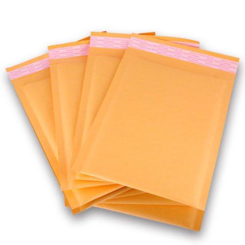 100 Pack #000 4 x 8 Inch Oknuu Packaging Supplies Kraft Bubble Mailers Self-Sealing Shipping Envelopes Plastic Mailing Bags 4