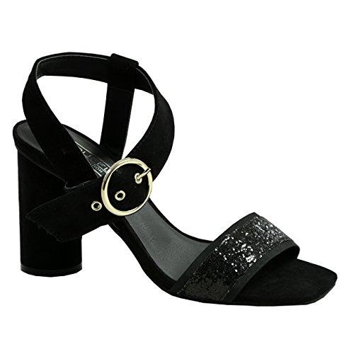 Cucu Fashion New Womens Ladies Round Toe Ankle Strap Buckle Peep Toe Sandals Shoes Sizes Black ga2z6l