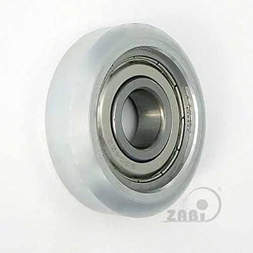 ZAB de S metal ruedas para puertas con almacenamiento diámetro 43 de diámetro 91 portería de ruedas ruedas tragrollen: Amazon.es: Bricolaje y herramientas