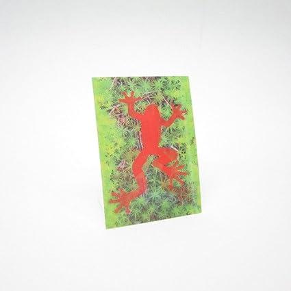 Post tarjeta roja Rana animado lenticular, motivo de, ideal ...