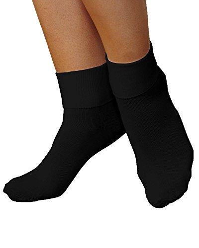 Buster Brown Comfort Toe Stretch Socks, Black, (Buster Brown Cotton Socks)