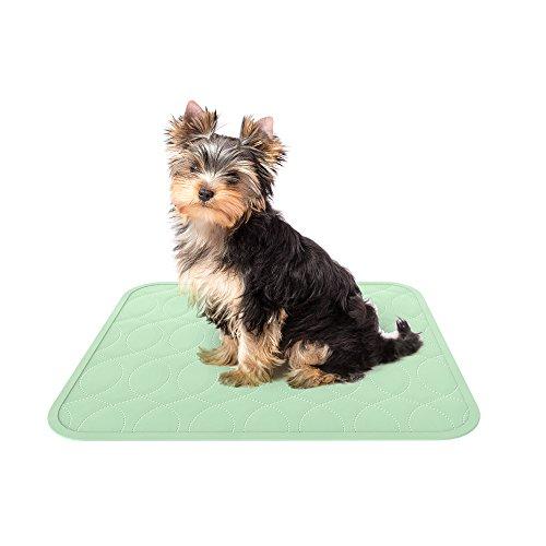 "Reusable Housebreaking Pad (PETMAKER Puppy Pads Pet Training Mat- 2 Pack Quick Absorb, Waterproof, Machine Washable, Reusable- Dog Housebreaking, Training Supplies, 17"" x 20"" by)"