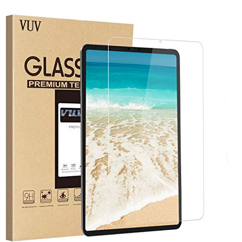 Screen Protector for New iPad Pro 12.9, VUV Clear Premium Tempered Glass Film [Scratch-Resistant] 9H Hardness HD All-Screen Apple Pencil Compatible Screen Protector [1 Pack] (2018