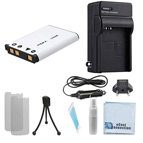 Olympus Stylus 830 - LI-42B Battery for Olympus Stylus Camera + Car/Home Charger for 830, 840, 850SW, 1040, 1050SW, 1200, 5010, 7000 Camera + eCostConnection Starter Kit